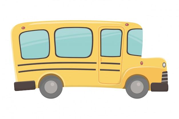 Ilustrador de vetor de design de ônibus escolar
