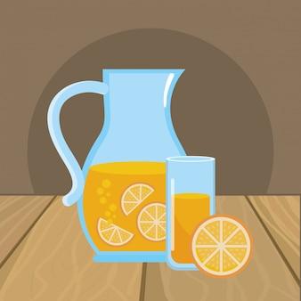 Ilustrador de vetor de suco de laranja isolado