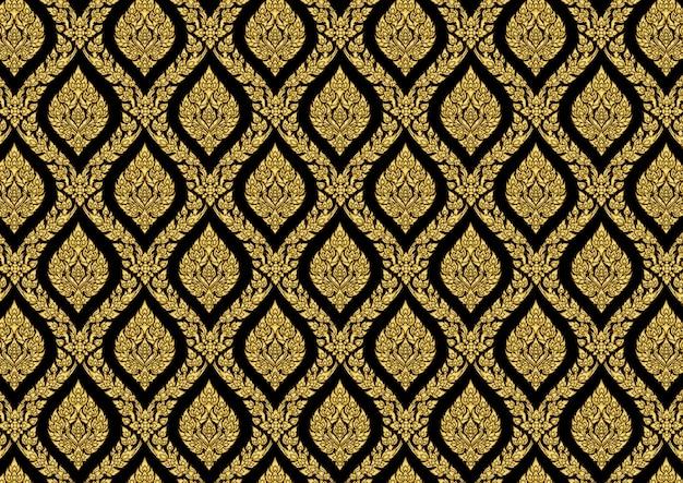 Ilustrador de vetor ouro vintage padrão tailandês