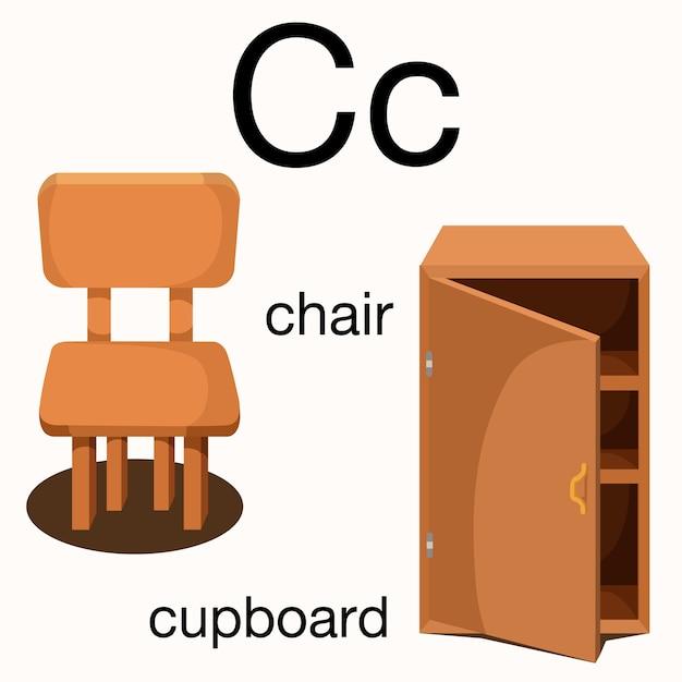 Ilustrador de vocabulário c