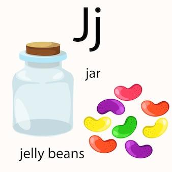 Ilustrador de vocabulário j