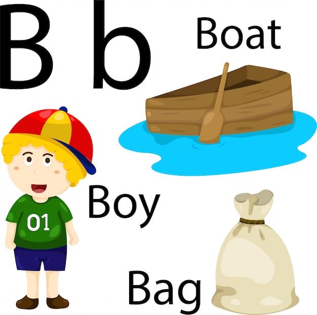 Ilustrador do alfabeto b
