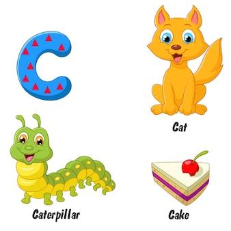 Ilustrador do alfabeto c