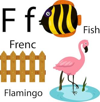 Ilustrador do alfabeto f