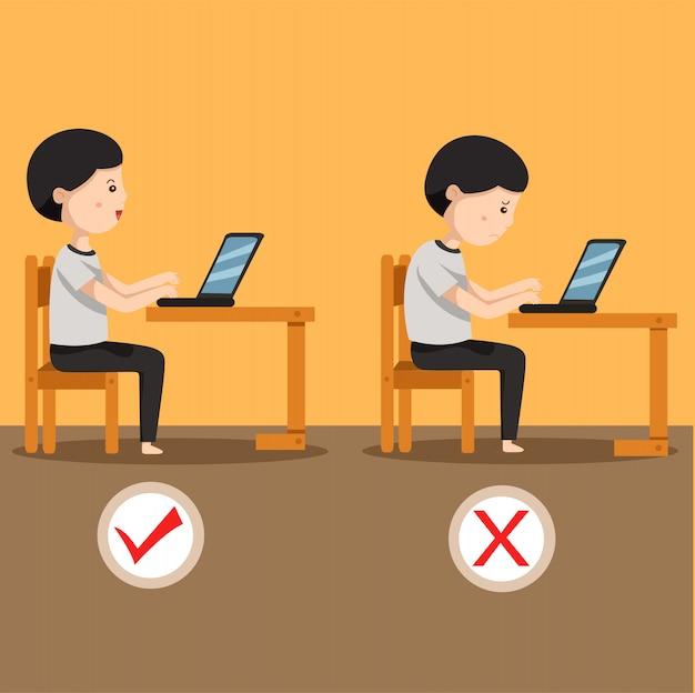 Ilustrador do homem sentado posição dois