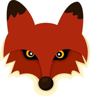 Ilustrador do rosto de raposa