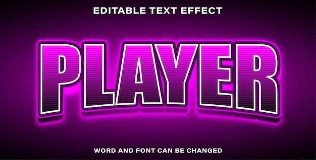 Ilustrador editável efeito de texto jogador esports