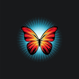 Ilustration do projeto da borboleta