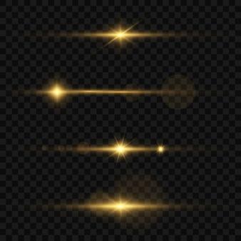 Imagem abstrata de um flash de iluminação