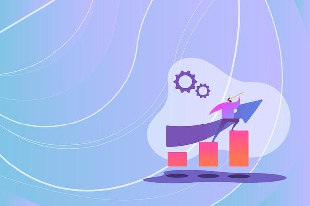 Imagem colorida exibindo resumo de progresso levando adiante ideias de atualização de melhoria