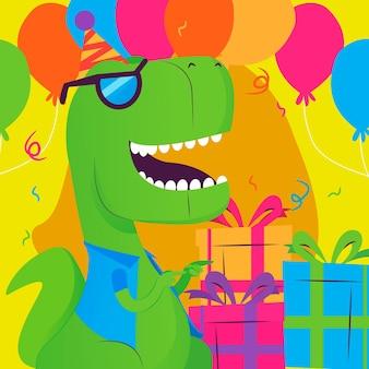 Imagem conceitual de festa de dinossauro