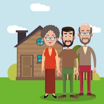 Imagem da casa dos membros da família