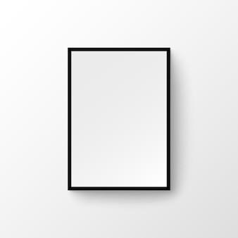 Imagem da parede do porta-retrato. madeira em branco, pintura de design moderno da galeria da moldura da foto.