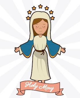 Imagem da religião de crença da ascensão da sagrada maria