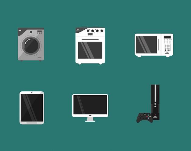 Imagem de aparelhos eletrônicos em casa