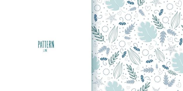 Imagem de arte de papel de parede de flores em um padrão botânico sem costura