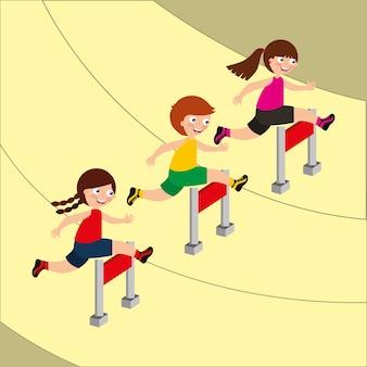 Imagem de atividade esportiva de crianças