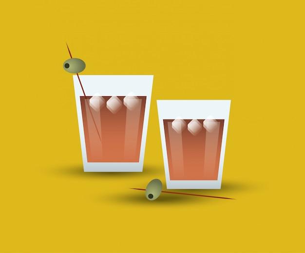 Imagem de copo de bebida coquetel