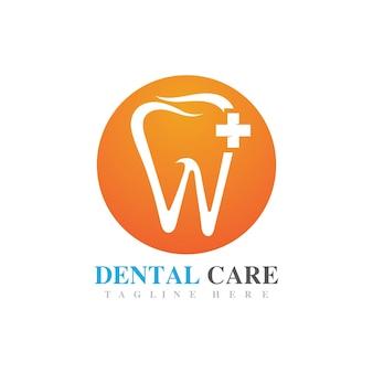 Imagem de design de ícone de vetor de logotipo de atendimento odontológico