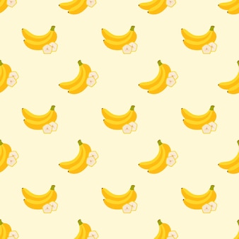Imagem de fundo sem costura colorida fruta tropical banana