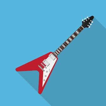 Imagem de guitarra elétrica, ilustração de estilo