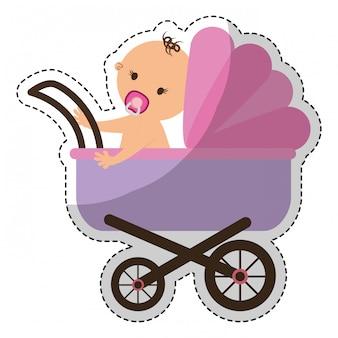 Imagem de ícone de carrinho de bebê
