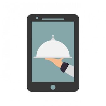 Imagem de ícone de entrega de comida