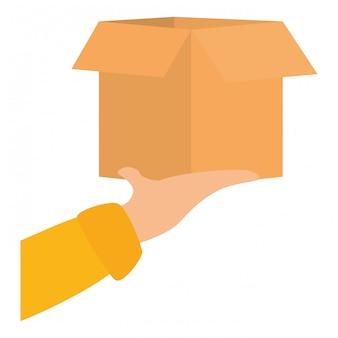 Imagem de ícone de entrega de pacote