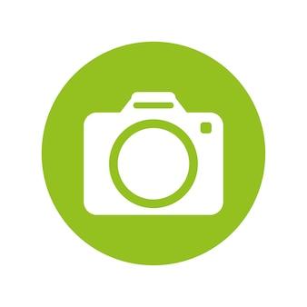 Imagem de ícone de miniatura de botão de câmera fotográfica