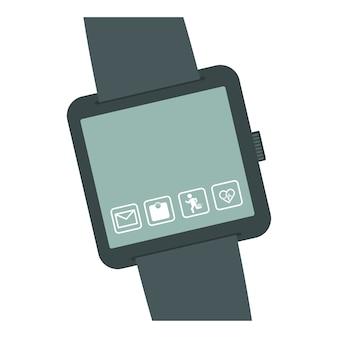Imagem de ícone de miniatura de botão smartwatch