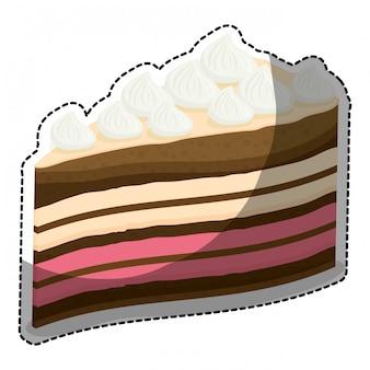 Imagem de ícone de pastelaria de bolo embelezada