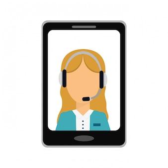 Imagem de ícone de serviços técnicos de smartphone