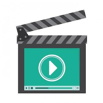 Imagem de ícone de vídeo ou filme