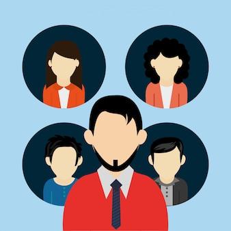 Imagem de ícones de avatar de usuários de pessoas