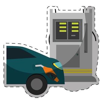Imagem de ícones relacionados à indústria de gasolina ou óleo