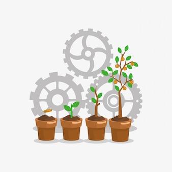 Imagem de ícones relacionados ao negócio