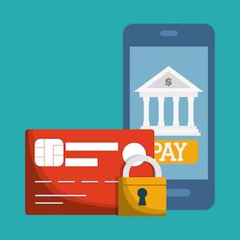 Imagem de ícones relacionados bancários