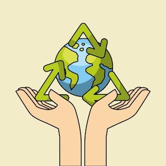 Imagem de ícones relacionados com eco friendly