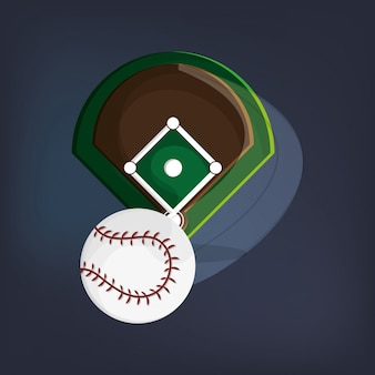 Imagem de ícones relacionados de beisebol