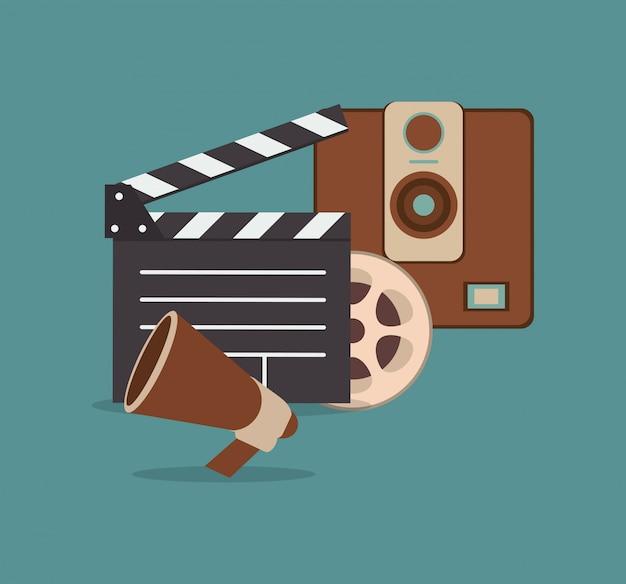 Imagem de ícones relacionados de cinematografia