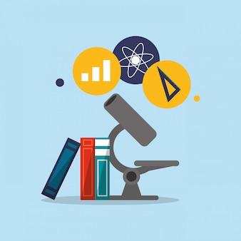 Imagem de ícones relacionados de educação e academia