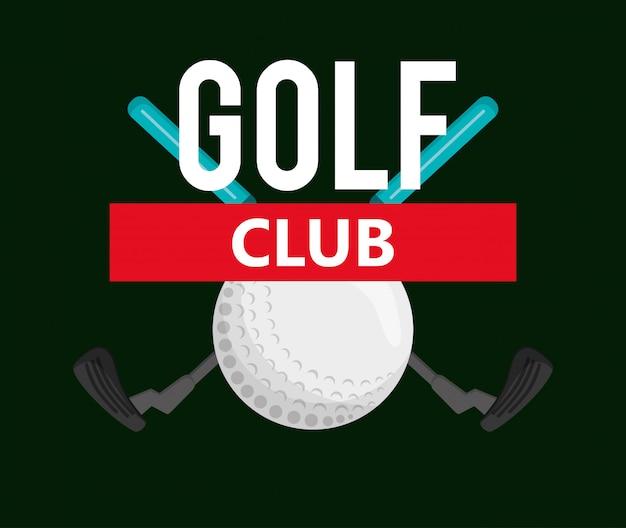 Imagem de ícones relacionados de golfe clube de golfe