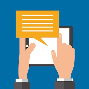 Imagem de ícones relacionados de mensagens digitais