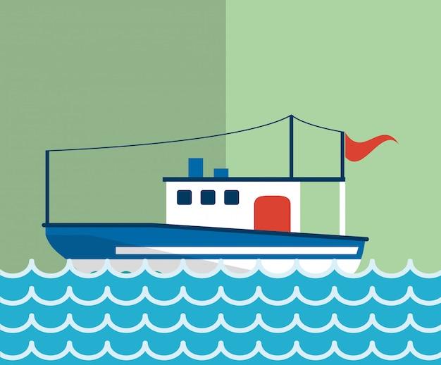 Imagem de ícones relacionados de vida marinha náutica