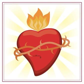 Imagem de jesus cristo do coração sagrado