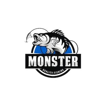 Imagem de logotipo de pesca vintage