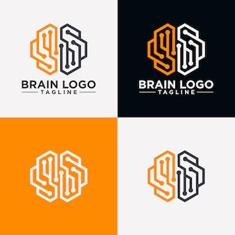 Imagem de logotipo do cérebro criativo
