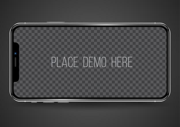 Imagem de lugar fácil de maquete de smartphone na tela.