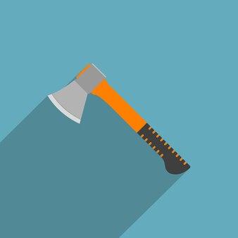 Imagem de machado industrial, ícone de estilo