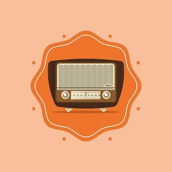 Imagem de rádio retro
